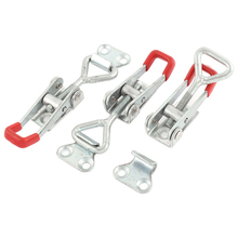 2pcs Adjustable Horizontal Toggle Clamp Cabinet Boxes Lever Handle Toggle Latch Catch Lock Clamp Hasp(China)