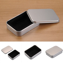 Silver Metal Storage Cigarette Lighter Gift Box Collectable Case Holder For Cigarette Storage Tools