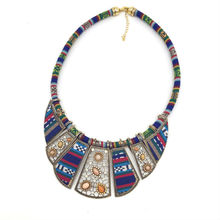 2017 mujer choker necklace rope chain bohemian boho collar tribal ethnic koyle vintage navy blue big necklace & pendants jewelry(China)