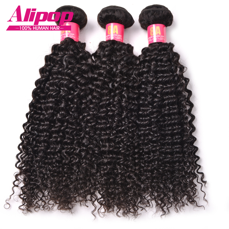 8A Brazilian Curly Virgin Hair 3 bundles Brazilian Kinky Curly Virgin Hair Brazilian Human Hair Bundles Alipop Hair Products<br><br>Aliexpress
