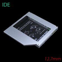 [Free DHL] High Quality Aluminum 12.7mm IDE to SATA Second HDD Caddy 2.5'' SATA 2nd HDD Hard Disk Driver Caddy - 30pcs