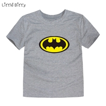 Little Bitty design boys minion t shirt kids batman t-shirt baby girls children t shirts child short sleeve clothes for 2-14t