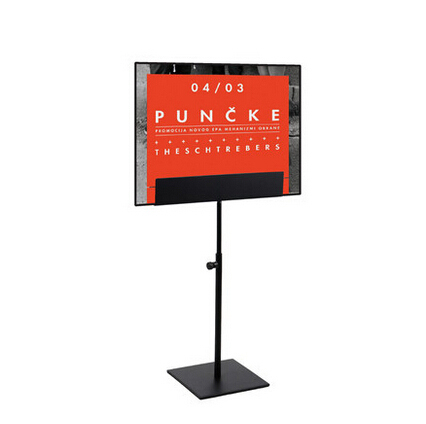 Metal Poster Stand Black Poster Display A4 A3 Tabletop Display<br>
