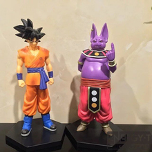 2pcs/set Cartoon Dragon Ball Z Beerus SON GOKU cool pvc action figure doll model toy