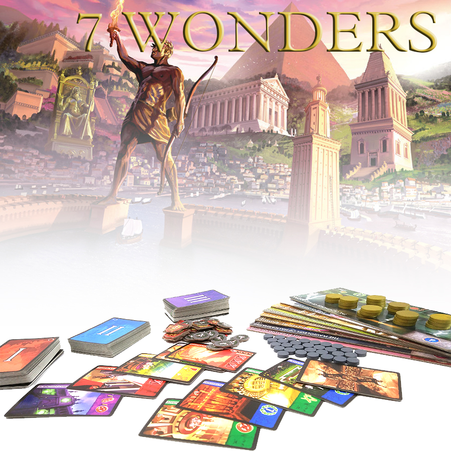 7 wonders board game, english and Chinese version seven wonders high quality material suitable for the party cards game<br><br>Aliexpress
