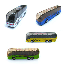 1pcs Metal MODEL DIE CAST 208 AIR PORT BUS OR TOUR BUS classic toys for children boys Children's Day gift Global(China)