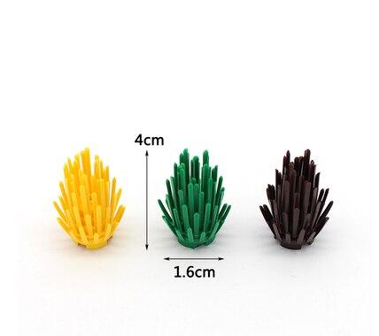 10Pcsset LegoINGlys Mini Bush Tree Plant Grass Shrub Building Blocks Military Weapon MOC Accessory DIY Arms Toys For Children (7)
