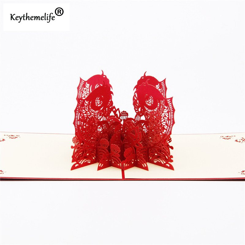 China-Red-3D-Fish-Cards-Invitations-Pop-Up-Postcards-Origami-Paper-Best-Wish-Greeting-Holiday-Gift (3)