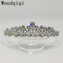 Woodqiqi jewelry diademe bride crown pince cheveux femme bijoux bridal hair ornament vestido bridal tiara headpiece(China)