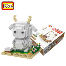 LOZ Diamond Blocks little sheep Cartoon Action Figure Educational DIY Building Blocks 9847(China)
