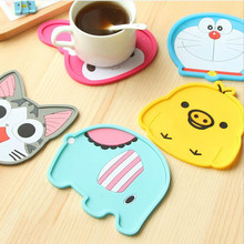 1pcs Cute Cartoon Animal Shape Silicone Coffee Placemat Drink Coaster Cup Mat Table Heat Insulation Pad Mat Free Shipping