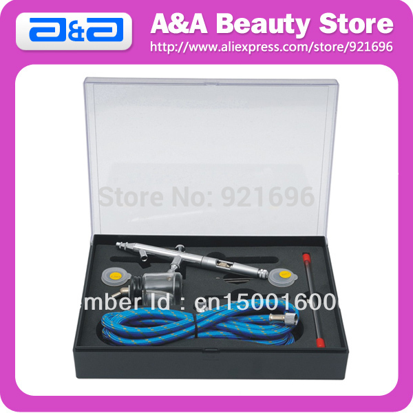 182S 0.3mm Double Action Airbrush kit With Replacement Nozzle, Needle &amp; Air Hose<br><br>Aliexpress