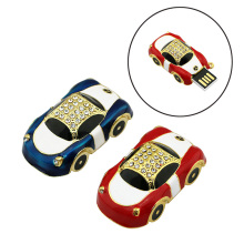 Mini diamond Car Shape USB Flash drive 64gb 32gb 16gb 8gb 4gbusb 2.0 pen drive flash memory stick u Disk pen drive pendriver