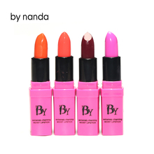 Beauty Lipstick by nanda Food Grade Healthy Moisturizer Smooth Waterproof 4 Fashion Color Long Lasting Matte Lipstick(China)