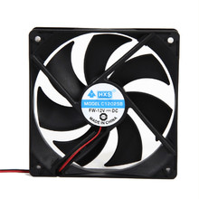 Best price 1pcs 120mm 120x25mm 12V 4Pin DC Brushless PC Computer Case Cooling Fan 1800PRM