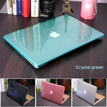 NEW Transparent Crystal Case For Apple Macbook Air Pro Retina 11 12 13 15 Laptop Cover with Touch Bar+Transparent keyboard film(China)