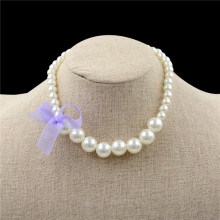 1 Pcs Fashion Lovely Pink Purple Color Acrylic Beads Necklace Best Gifts To Baby Girl Chunky Necklace Jewelry(China)