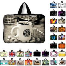 "13.3"" 15.4"" 17.3'' Cup Print Laptop Bag For MacBook Neoprene Pouch Cover Bags Tablet Case For HP Lenovo Asus Dell 7 10 12 14 15(China)"