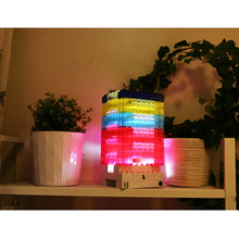 Creative Safety DIY Toy Bricks Light Tetris light Building block Nightlight LED Light Constructible Desk Lamp DC/battery Power(China)