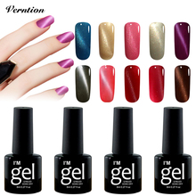 Verntion Gel Nail Polish 8ml 3D Magnetic Cat Eye Professional Uv Gel Nail LED Lamp Semi Permanent Soak Off Magnet Gel Varnish(China)