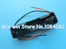 "1pc Wholesale Store Plastic Battery Box Storage Case for 1 x 18650 Black with 6"" Wire Leads"
