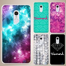 Diamonds Just Print Hard White Cell Phone Case Cover for Xiaomi Mi Redmi Note 4 Pro 4A 4C 4X 5X 5 6