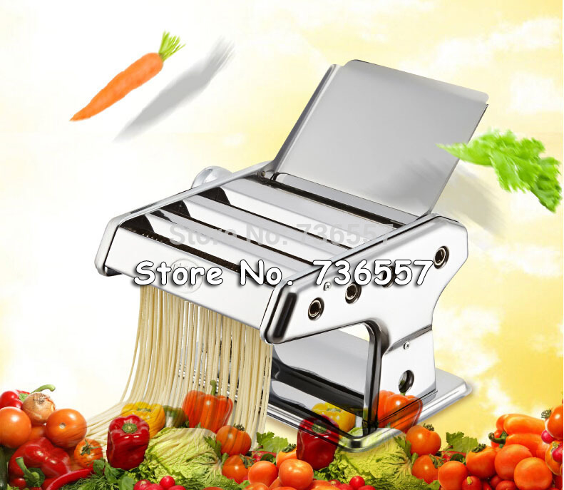 Stainless Steel Manual Noodle Press Household Pasta Making Machine Dough Roller Spaghetti Cutter<br>