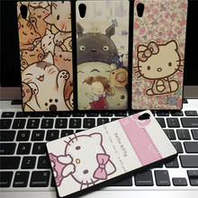 10 pcs/lot Hello Kitty Case For Coque Sony Xperia M4 Aqua Z4 Z5 Z5 Premium Cases Cover TPU Silicone & PU leather Batman Capinha(China)
