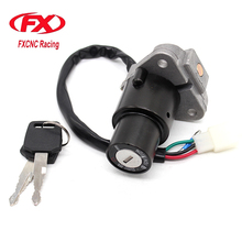 FXCNC Motorcycle New Ignition Switch Lock Key One Set Fit For YAMAHA TZR125 TZM150 TZR150 TDM850(China)