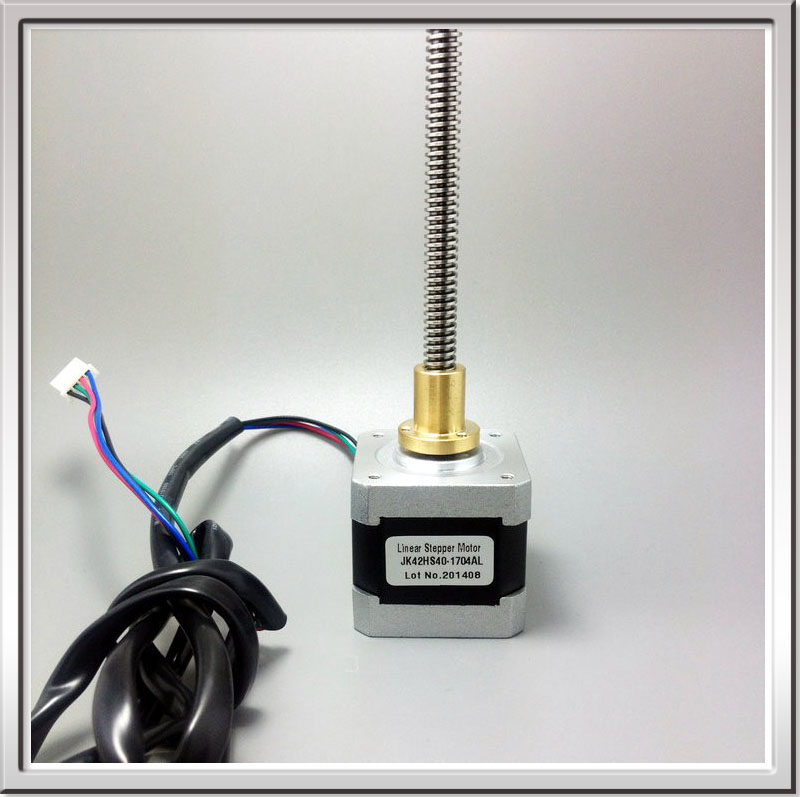 Free shipping 3D printer stepper motor linear stepper motor 4.0Kg.cm NEMA17 42mm 2Phase stepper motor 300mm TR8*2(P1) 4wire 1.7A<br>