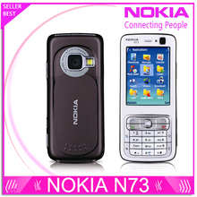 Original Refurbished Nokia N73 Mobile Cell Phone Unlocked GSM English Arabic Russian Keyboard(China)