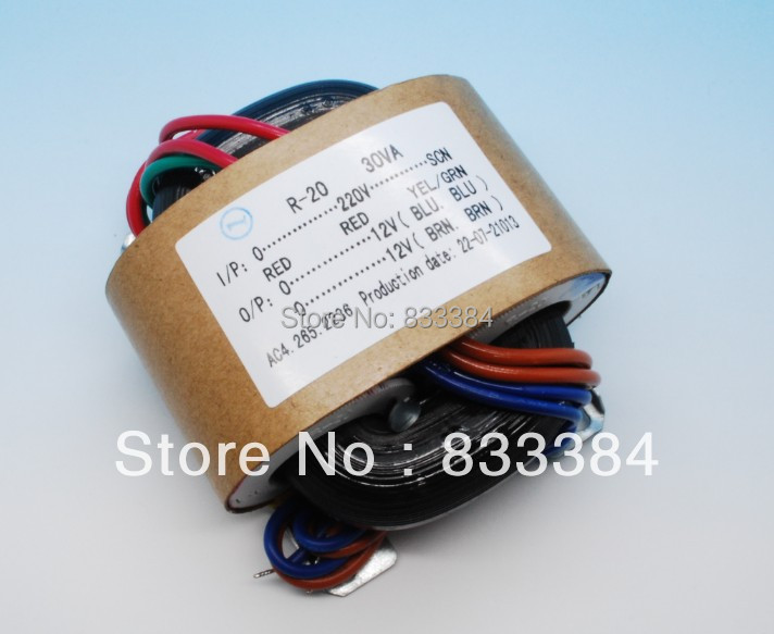 High quality 30W 230V/115v R Core Transformer for pre-amp 9V+9V 15V+15V (suitable for DAC,Preamp,Headphone amp) free shiping<br>