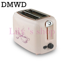 DMWD 750W household Toaster automatic baking bread maker breakfast machine Mini Toaster oven with Defrost&Cancel&Reheat Function