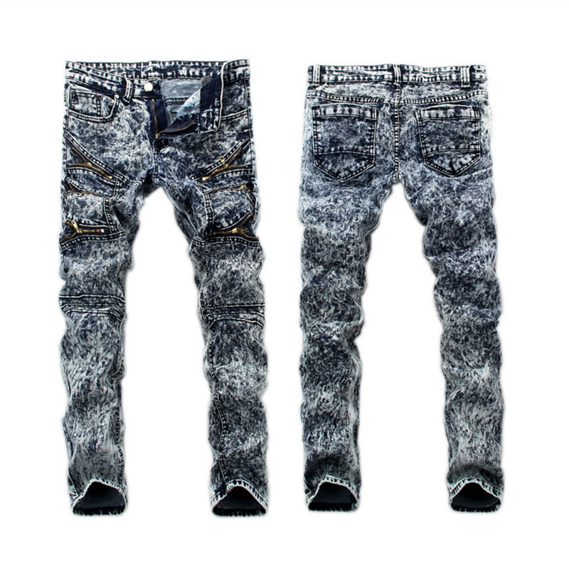 Black Gray Color Classic Denim Men Jeans High Quality Slim Fit Ripped Jeans For Men Italian Style Retro Design Biker Jeans PantÎäåæäà è àêñåññóàðû<br><br>