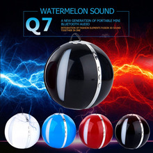 Q7 New Wireless Bluetooth Speakers With Flashing Lights Radio Outdoor Portable Hands-Free Speaker Ball Shaped Mini Speaker(China)