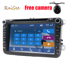 Car 2din VW cheap car dvd players for Volkswagen GOLF VI Navigation GPS Bluetooth Radio USB IPOD Steering wheel Control()