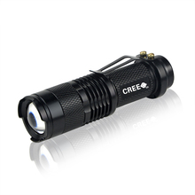 Portable 1000LM CREE Q5 LED Flashlight 3 Modes Zoomable Aluminum Waterproof Torch light For Camping Outdoor Emergency light