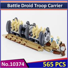BELA10374 Compatible Legoes Star Wars Figures Battle Droid Troop Carrier 75086 Building Block Model Educational Toy for Children(China)