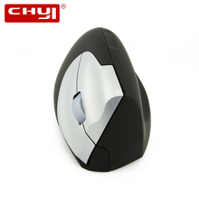 CHYI Wireles Mouse Erogonomic Vertical Design 2.4Ghz 1600 DPI Optical Mouse Wrist Healing For PC Laptop Desktop Gaming Mice(China)