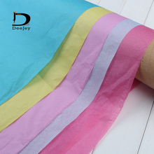 moisture proof DIY wrapping Tissue Paper Wedding Gift clothing wrap Paper Copy Tissue Paper solid candy colors 50*66cm 40pcs lot(China)