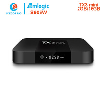 WESOPRO TX3 Mini Smart TV Box Amlogic S905W 1.5GHz Set-top TV Box 2.4GHz WiFi Android 7.1 2G DDR3 16G 4K HD H.265 Media Player