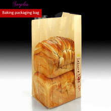 100pcs 16*36cm Kraft Paper Toast bread Packaging Bags with Display Window ,Classic Baking Packaging bags