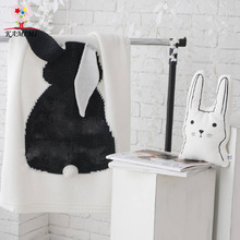 Baby Rabbit Blanket KAMIMI Newborn Infant knitting baby Cotton Swaddle children's bedding Towels Baby sleeping blanket 70*100cm