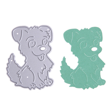 Cute Dog Metal Cutting Dies Stencils DIY Embossing Scrapbooking Decorative Paper Card Craft free shipping(China)