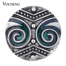 Vocheng Ginger Snap Jewelry Painted Design 18mm Vintage Button Vn-1387 Free Shipping