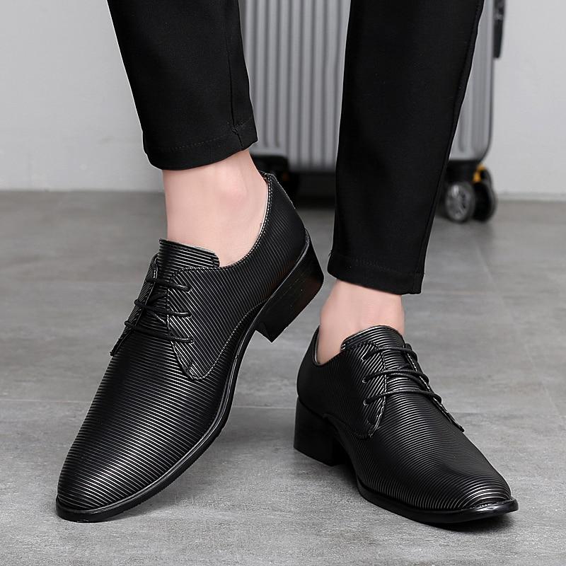 designer striped shoes men luxury brand fashion camouflage italian pointed male footwear designer man dress oxford shoes for men (42)