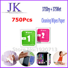 SCREEN Camera Lens Phone LCD Screen Dust Removal Dry Wet Cleaning Wipes Paper tools Set alcohol package for iPhone Wet wipes