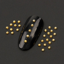 Hot Fashion 1.5 mm 200pcs Nail Arts Gold/Silver Zinc Alloy Half Ball Nail gel Nail Metal Studs High Quality 290223