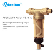 "Wheelton Water Pre Filter (WWP-02S) Carry Two Wipers Euro-standard Brass 30Years lifitime Purifier whole house 1/2""&3/4""&1 ""(China)"