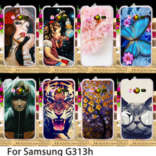 TAOYUNXI Soft Phone Cases For Samsung Galaxy ACE 4 NXT G313 G318H G313H Ace 4 Lite Case Flowers Hard Back Cover Skin Bag(China)